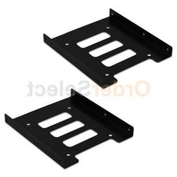 "2 2.5"" to 3.5"" Bay SSD Metal Hard Drive HDD Mounting Bracket"
