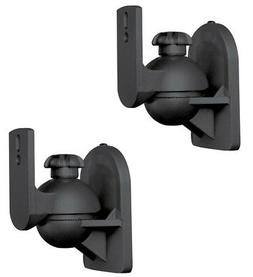 2 Pack Lot  Universal Satellite Speaker Black Wall Mount Bra