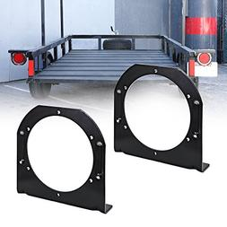 """2PC 4"""" Round Tail Light L Shape Mounting Bracket     For Tra"""