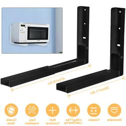 🔥2x Microwave Oven Brackets Adjustable Wall Mount Shelf C