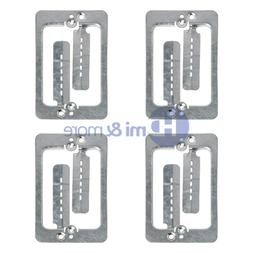 4x Single Gang Low Voltage Wall Plate Steel Drywall Mounting