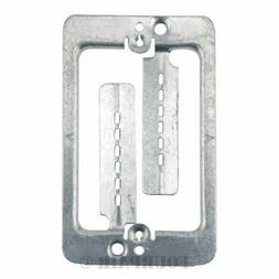 50 Pack Lot - Single Gang Low Voltage Wall Plate Steel Drywa