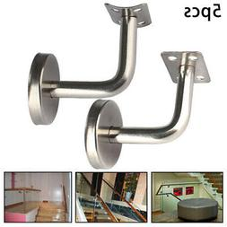 5Pcs Stainless Steel Wall Mount Stair Handrail Brackets For