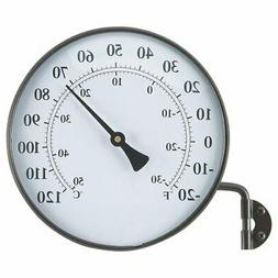 AcuRite 6 Inch Antiqued Brass Finish Thermometer w/ Bracket