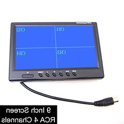 "EKYLIN 9"" TFT LCD Quad Split Monitor for Auto Truck CCTV Sur"