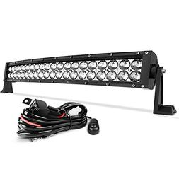 LED Light Bar 24 Inch Curved AUTO Work Light 4D 200W with 8f
