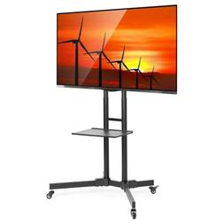 Mount Factory Rolling TV Stand Mobile TV Cart for 32-65 inch