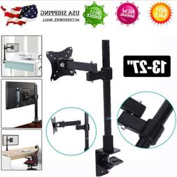 "Single Arm Monitor Desk Mount Bracket Stand for 13""-27"" LCD"