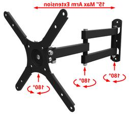TV Bracket Full Motion Swivel Wall Mount Fit 24 27 32 37 39