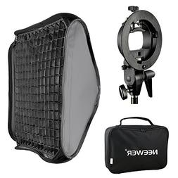 Neewer 24 x24 60x60cm Bowens Mount Softbox with Grid and S-t