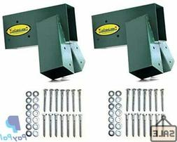 Easy 1-2-3 A-Frame Swing Set Brackets Complete Set 2 Bracket
