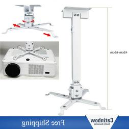 Extendable Projector Mount Rod DLP LCD Ceiling Bracket Wall
