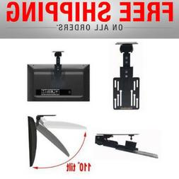 Flip Drop Down Folding TV Ceiling Bracket Swivel Roof Hangin