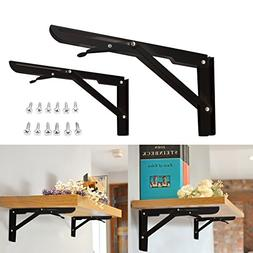 folding steel shelf brackets