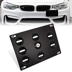GTP Front Bumper Tow Hook License Plate Mounting Bracket Hol