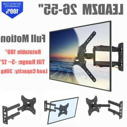 Full Motion TV Wall Mount Bracket Rotatable TV Stand LCD LED
