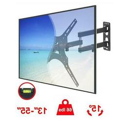 Full Motion TV Wall Mount Bracket Swivel Tilt for 23 32 36 3