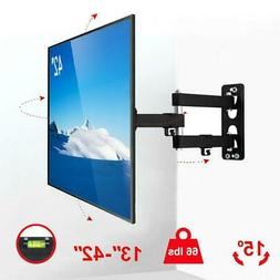 Full Motion TV Wall Mount Bracket Swivel for 13 24 26 27 32