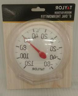 """Taylor  Indoor/Outdoor Thermometer 6"""" diameter  Easy Read wi"""