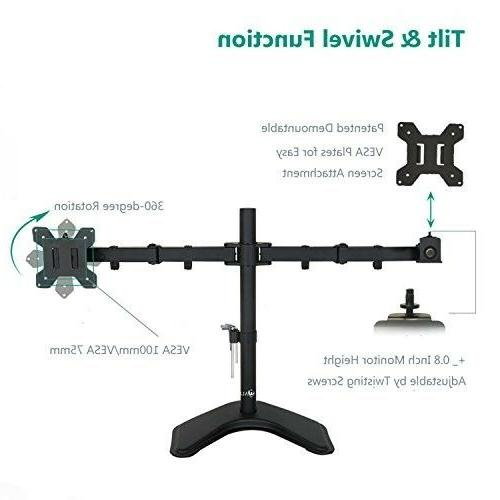 2 Screens Tilt Desk TV Bracket up to