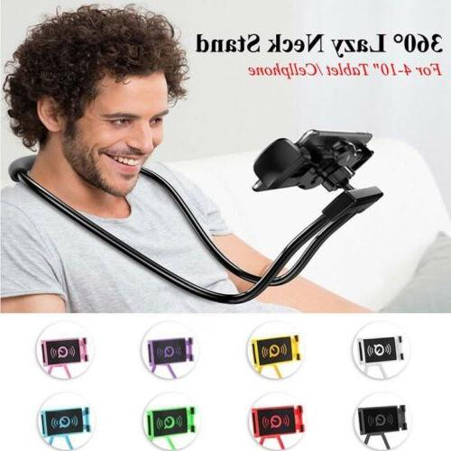 360 Flexible Clip Mobile Cell Neck Bracket Stand