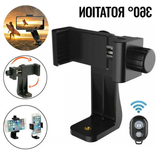 360 rotating cellphone tripod mount adapter clamp