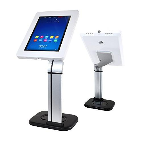 Anti-Theft Tablet Security Kiosk - Desktop Table Tablet Holder w/ Lock, Adjustable Clamp Routing, For iPad 3, Samsung, Tablets -