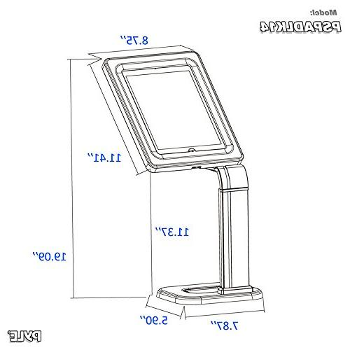 Anti-Theft Stand Kiosk - Desktop Table Case Holder Adjustable Clamp Routing, For 3, 4, Samsung, Tablets
