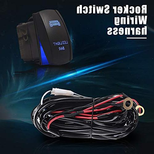 DOT 234W LED Light 2PCS Cube Pods Lights Triple Row Wiring Harness Tube For Tractor 1500 Jeep ATV GMC 4