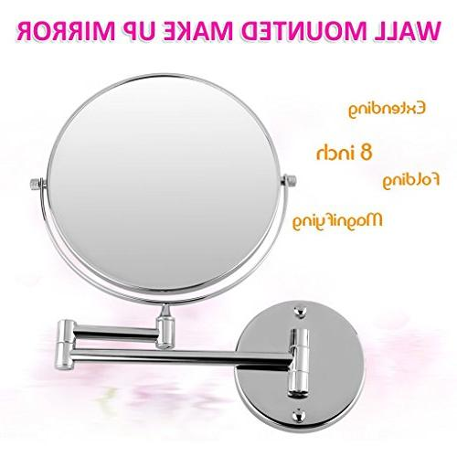 Excelvan Inch Double-Sided Swivel Mount Makeup Inch Polished Chrome Finished