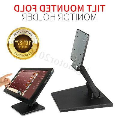 """Folding Desk Mount Monitor Holder Stand 10""""-27"""" Computer LCD"""