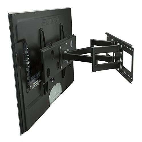 "Mount-It! Articulating TV Mount 32"" – 65"" LCD/LED/Plasma Screen TVs, Lbs Capacity, Black"