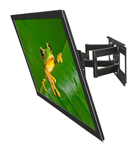 "Mount-It! Articulating TV Mount for 32"" 65"" LCD/LED/Plasma Screen TVs, Motion, 165 Lbs Capacity,"