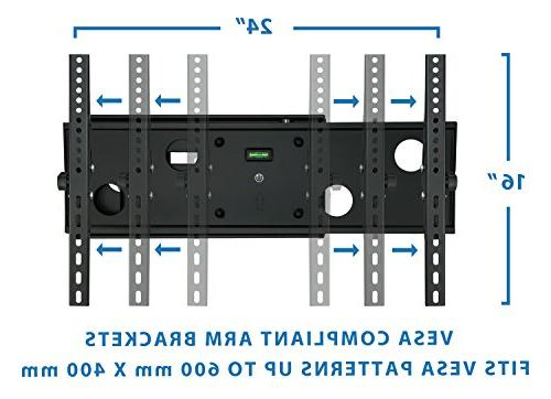 """Mount-It! TV Wall Mount Motion Swing Out 32"""" to 65"""" Screen and LED, VESA 165 Black"""