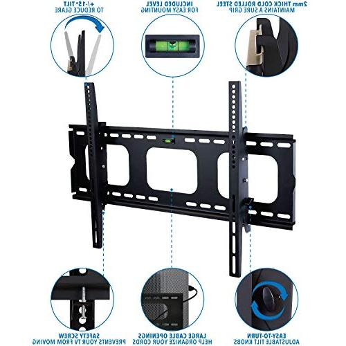 Mount-It! MI-303B TV Mount for 32 - 65 LCD, LED, Screen Heavy Load 15 Tilt Up or Down, Max VESA 6 ft cable
