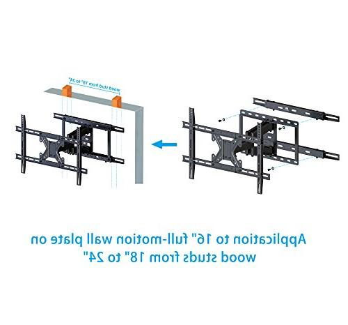 """Mounting TV Wall Mount Extended for 16"""" Wall Plate, Wood Loading Capacity"""