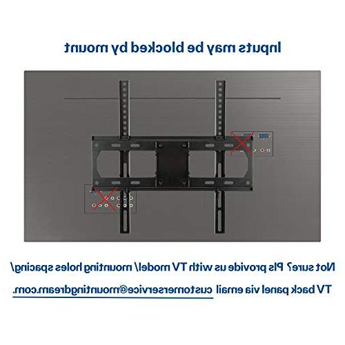 Mounting TV Wall Mount Most Inch Flat Screen Full Motion TV Wall Mount Dual Arms, 400x400mm, 99 LBS Loading MD2380