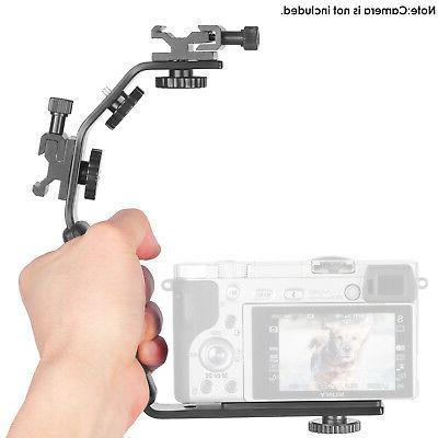 Neewer Camera Video Flash Bracket With Dual Flash Cold