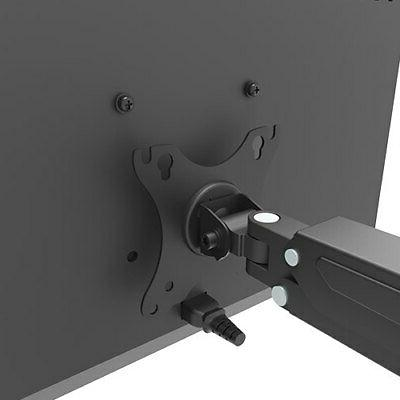 DUAL MONITOR DESK MOUNT BRACKET ARTICULATING UP OUT