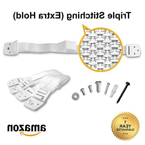 Skyla Homes and Straps   Adjustable Resistant Straps Wall Anchor   Protection for Baby Proof Extra Strong ABS