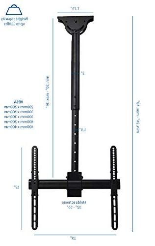 """VIVO TV Ceiling Height Adjustable for Screen 32"""" to"""