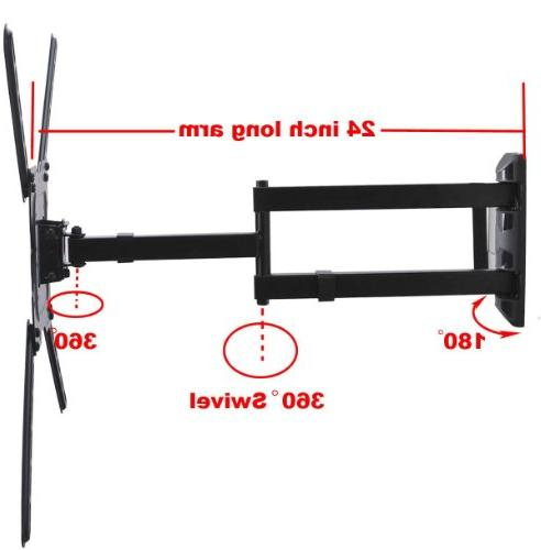 "VideoSecu TV Wall Profile Articulating Cantilever wall bracket for 22"" TV Flat VESA 200x200 400x400 to"