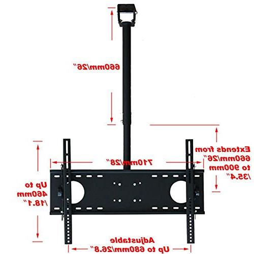 """VideoSecu Adjustable mount LCD Plasma TV Flat up 75"""" TV Fits or Vaulted Ceiling MPC53BE 1UO"""