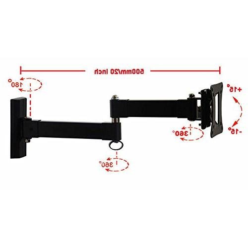 """VideoSecu Long Articulating LED Monitor Panel Wall Mount for 30"""" 32"""" 39"""" with 20 55 lb loading"""