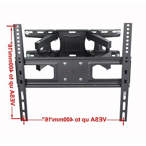 "VideoSecu MW340B2 TV Mount 32-65 OLED and Screen TV, with Motion Tilt Swivel Articulating Dual 14"" Extend, up VESA LBS WR9"