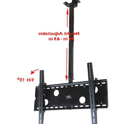 "VideoSecu Bracket to Flat 75"" VESA 400X400 700x400mm, Pole Extends from to MPC51B M10"