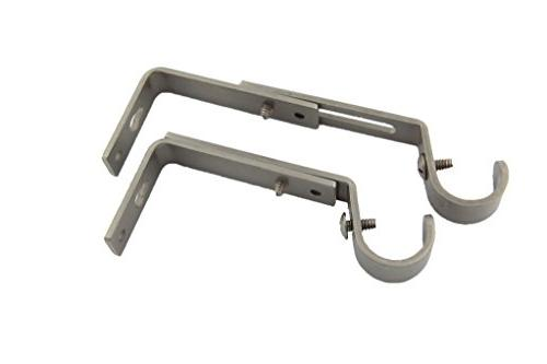 adjustable drapery bracket pair