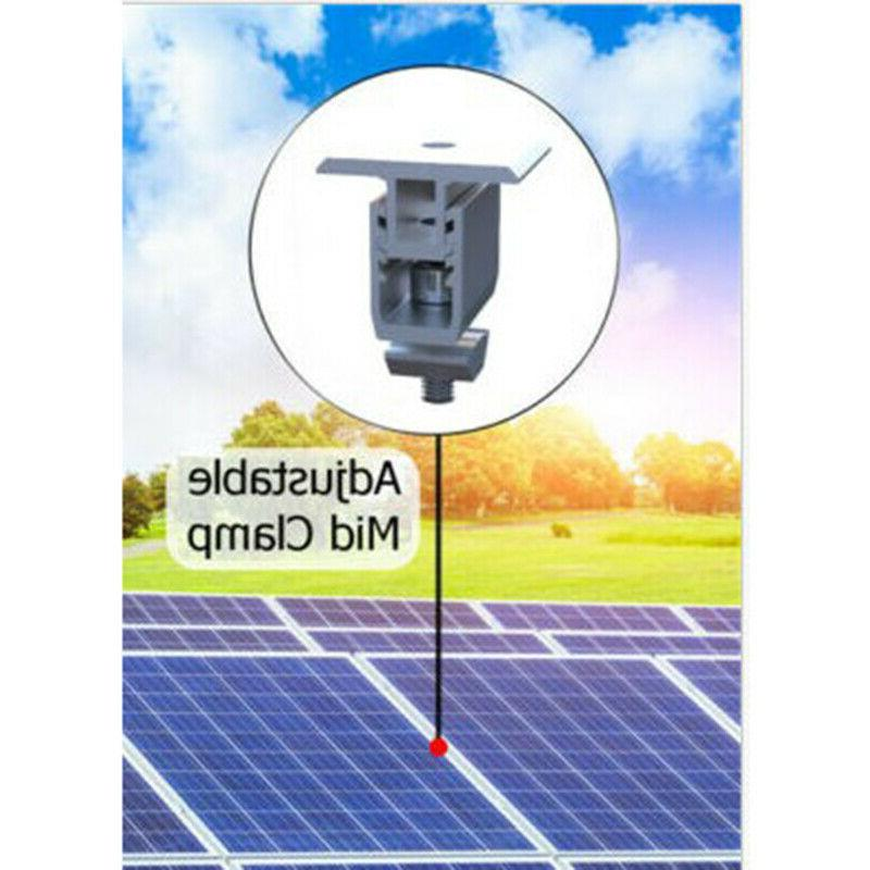 Adjustable Solar Panel Mounting Bracket Mid Kit For