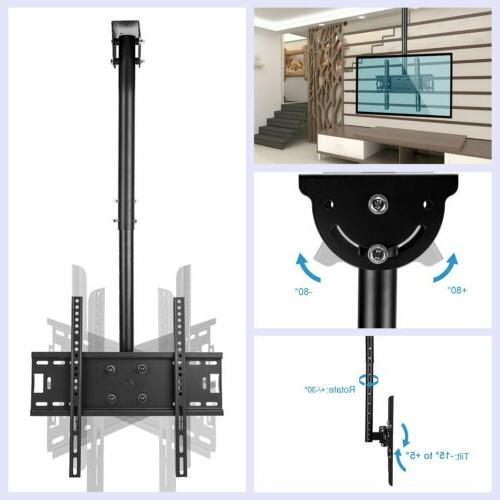 adjustable tv ceiling mount tilt swivel bracket