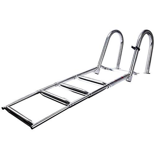 Amarine-made Steps Premium Stainless Entry Pontoon w/Extra Wide Step